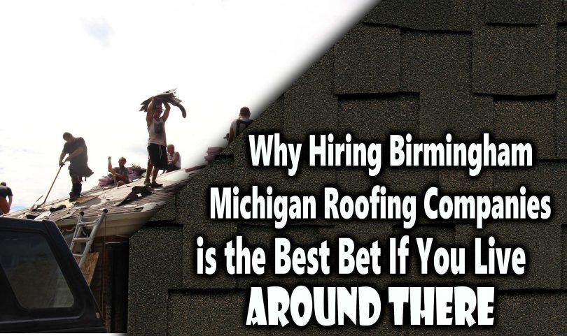 Why Hiring Birmingham Michigan Roofing Companies is the Best Bet If You Live Ar