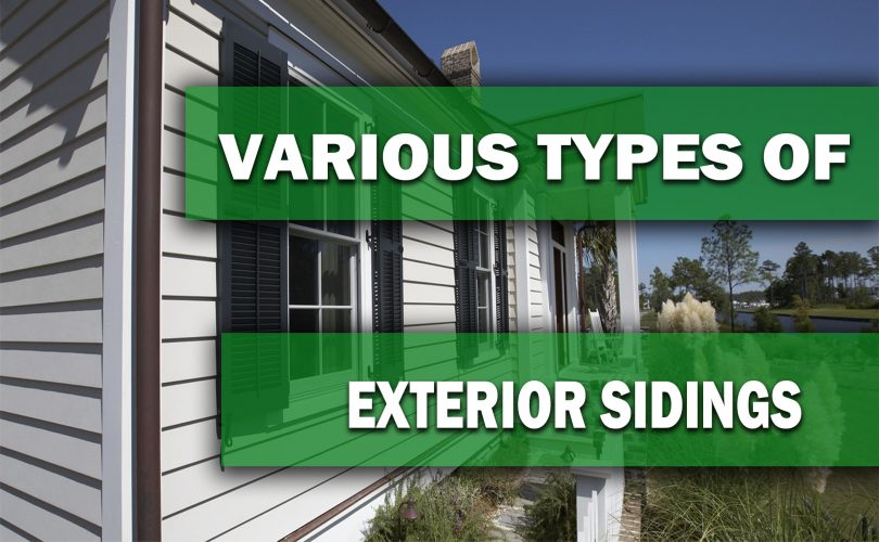 VARIOUS TYPES OF HOME EXTERIOR SIDINGS AVAILABLE IN THE MARKET