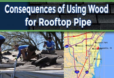 Consequences of Using Wood for Rooftop Pipe and Equipment Support