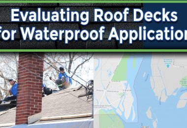 Reasons for Evaluating Roof Decks for Waterproof Application