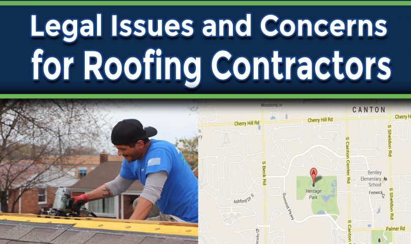 Common Legal Issues and Concerns for Roofing Contractors